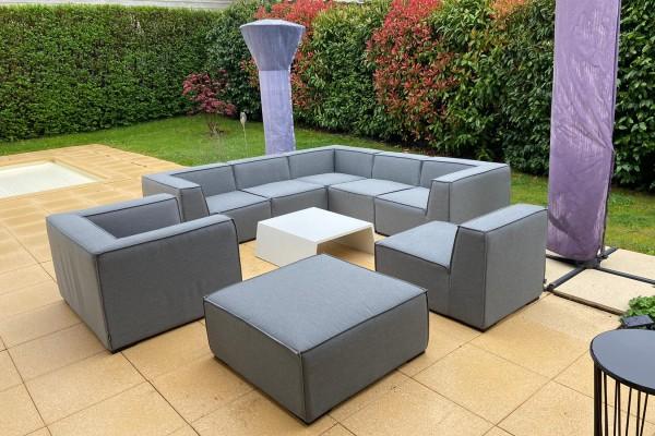Bormeo Deluxe weatherproof lounge in grey