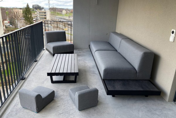 Kids garden lounge Sunbrella Mini in grey