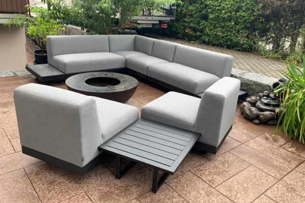 Toronto Garten Lounge in Grau