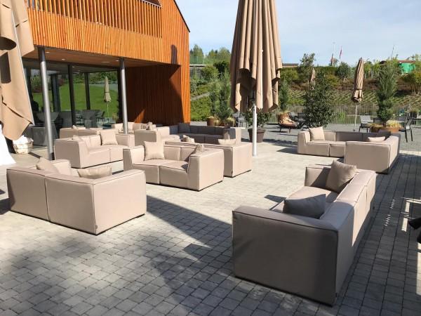 Hanna Deluxe Allwetter Lounge in Sandbraun