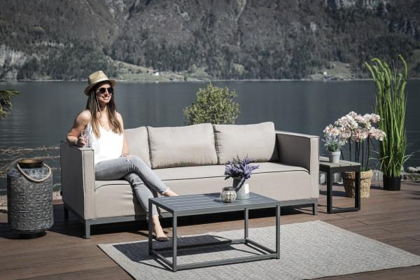 Freeride outdoor sofa in sand brown