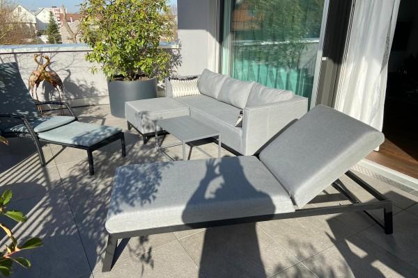 Alenia garden lounge set in grey