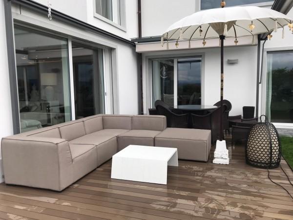 Eline garden lounge in sand brown