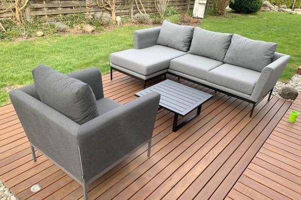 Brooks Garten Lounge links in Grau