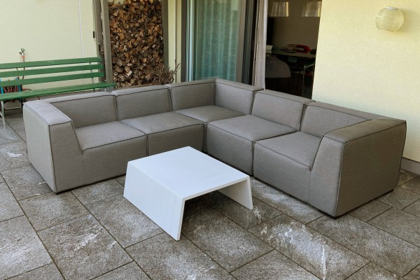 Lounge de jardin Selma en brun sable