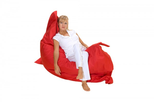 Lounge pillow in red 180x140 cm