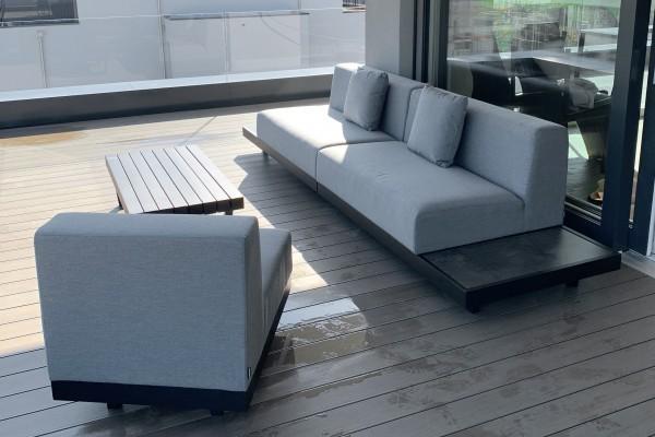 Windsor Deluxe garden lounge in grey