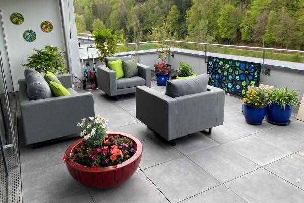 Lounge de jardin Jersey en gris