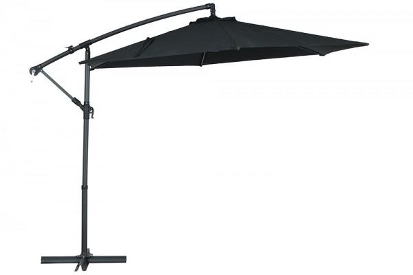 Pluto parasol 300 cm in black