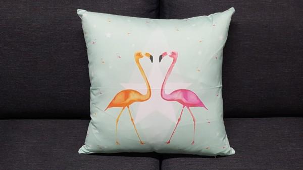 Zierkissen Flamingos in Love