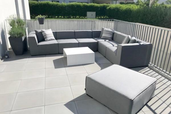 Bormeo garden lounge in grey