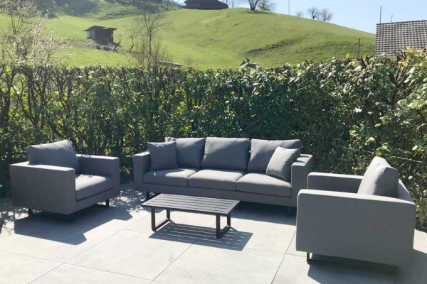 Lounge de jardin Wellington en brun sable