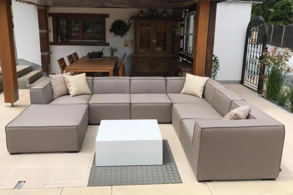 Bormeo garden lounge in sand brown