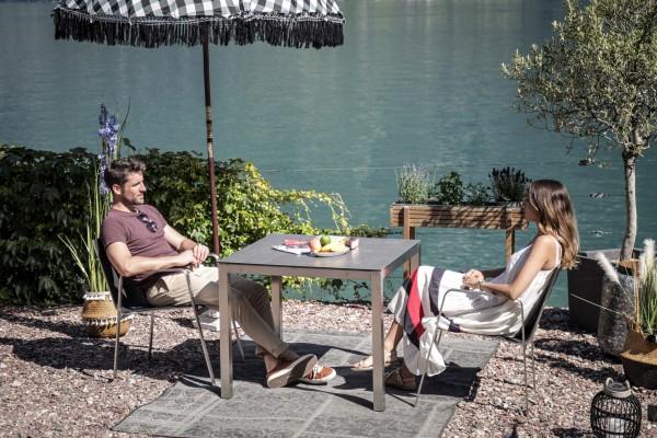 Jenna Tisch Set 90 – 2 Stühle Lalena in Schwarz