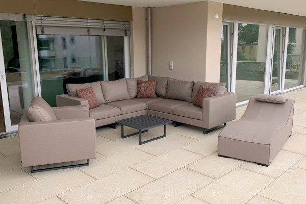 Melody Deluxe Garten Lounge in Sandbraun