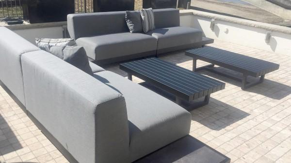 Table de lounge Toronto 120 cm en noir