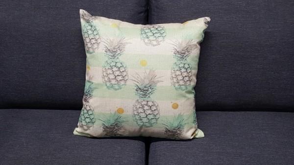 Coussin décoratif ananas stripes