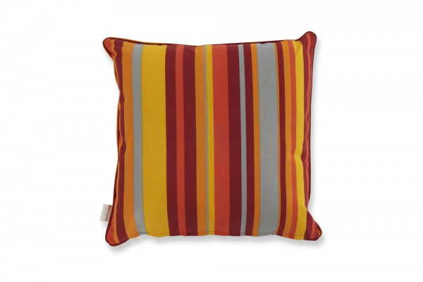Coussin décoratif en orange stripes
