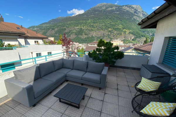 Melody Eck Garten Lounge in Grau