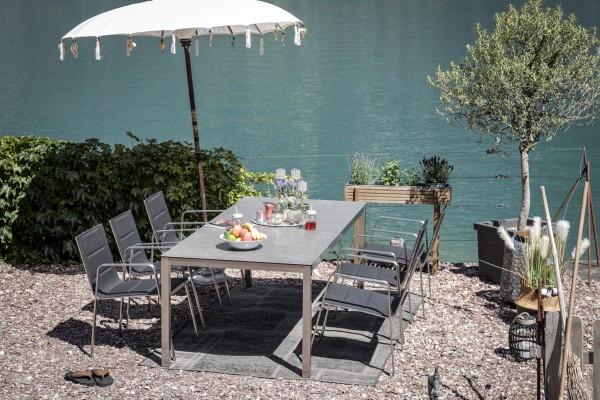 Ensemble de tables Jenna 220 – 6 chaises Lalena en noir