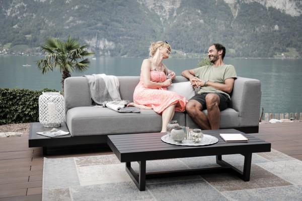 Memphis outdoor sofa, right version, in grey