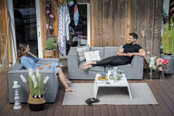 Hanna Deluxe all-weather lounge in grey