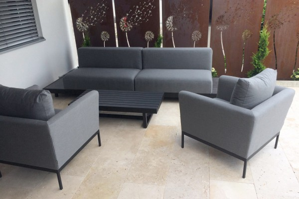 Lounge de jardin Windsor en gris