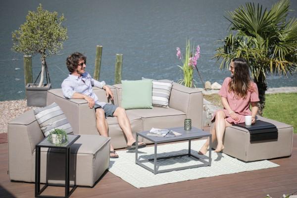 Lounge de jardin Jamie en brun sable