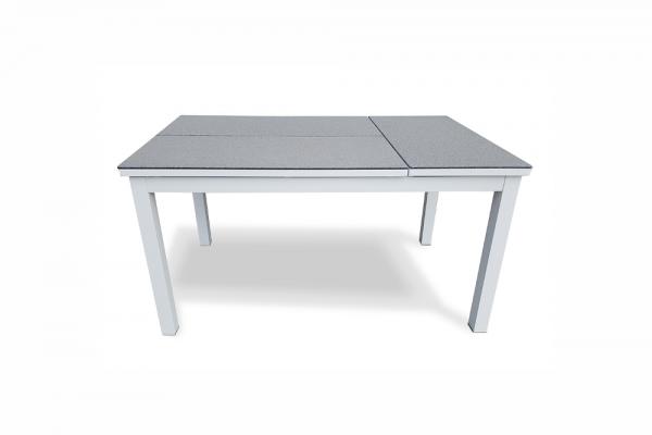 Table Moon Lounge fonctionnel, cadre blanc