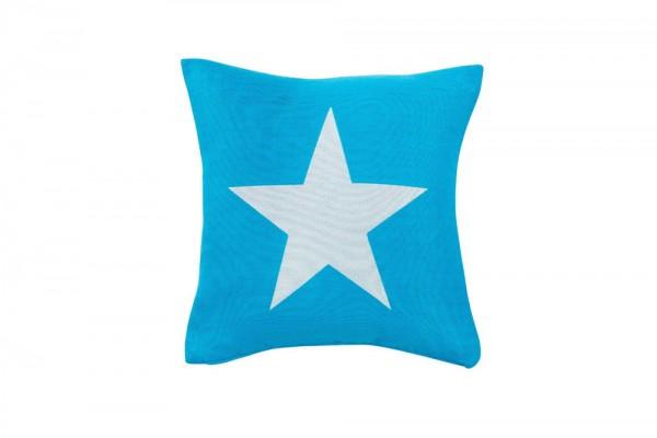 Decorative pillow Big Star in special aqua
