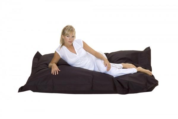 Loungepillow en noir 180 x 140 cm