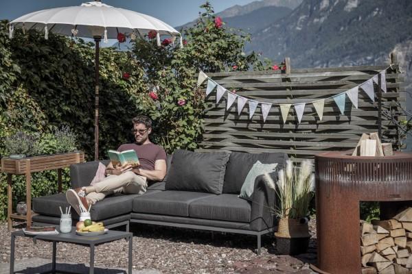 Brooks Garten Lounge rechts in Anthrazit