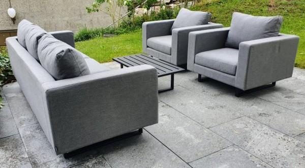 Lounge de jardin Wellington en gris