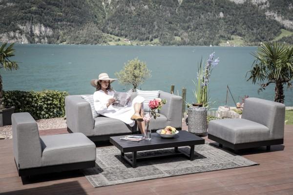 Lounge Linda en tissu Sunbrella gris