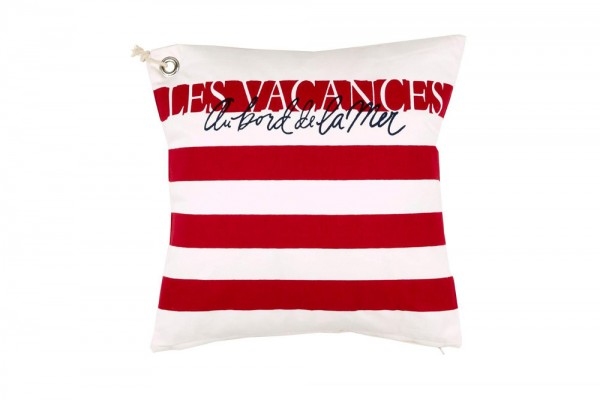 Decorative pillow Vacances in special red