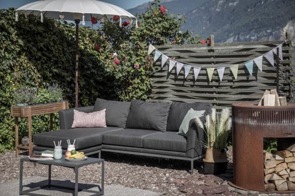 Canapé d'extérieur Brooks + 1 fauteuils en brun sable