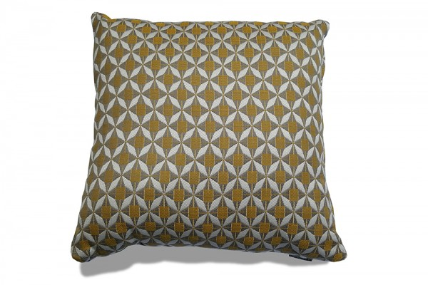 Sunbrella outdoor decorative pillow in mosaic yellow