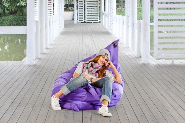 Lounge pillow beanbag in purple