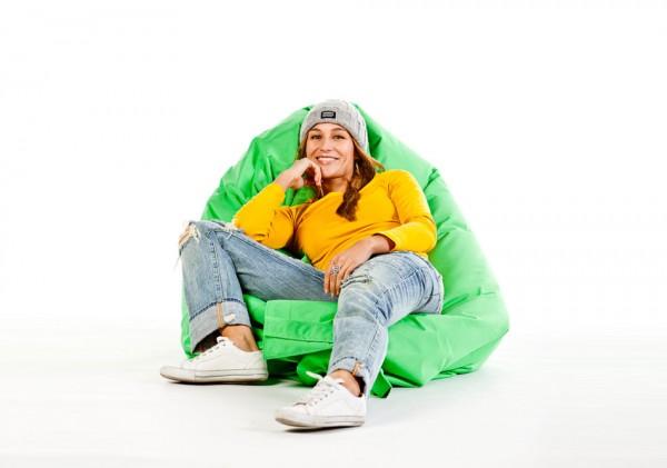 Lounge pillow in light green 180x140 cm