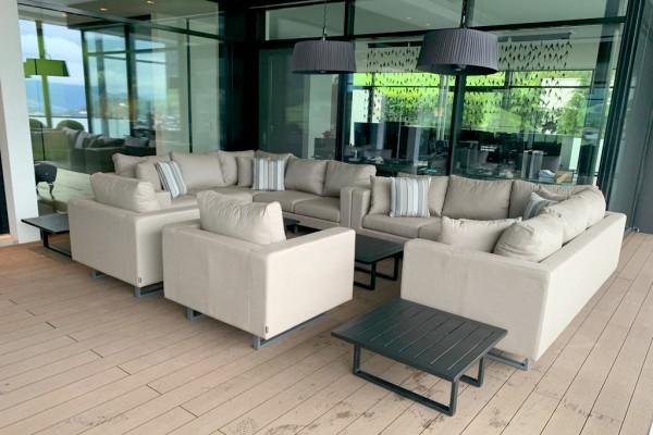 Melody Eck Garten Lounge in Sandbraun
