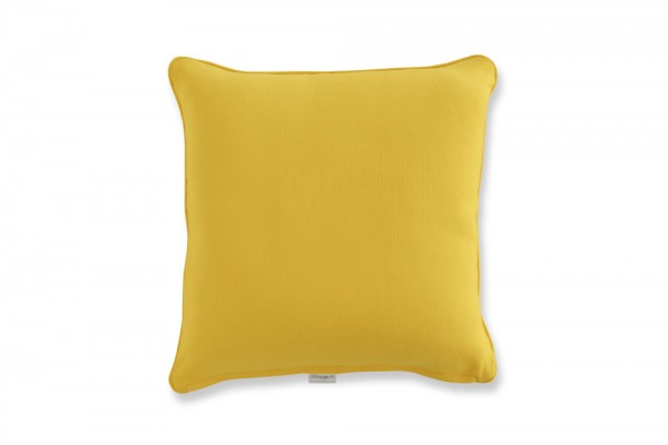 Decorative pillow in yellow