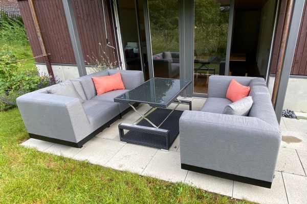 Amore Outdoor Lounge in Grau