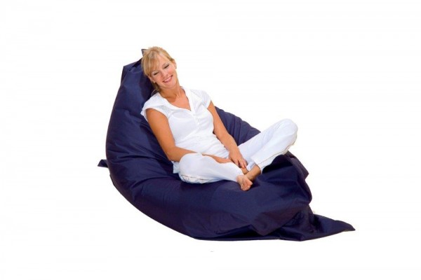 Lounge pillow in navy blue 140x140 cm