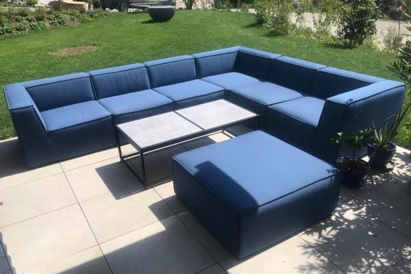 Uphill garden lounge in bluestorm