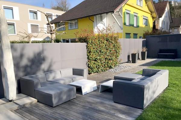 Emma garden lounge with Sunbrella fabric in grey