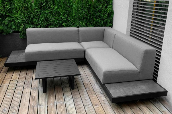 Ensemble de lounge de jardin Torontino en tissu gris
