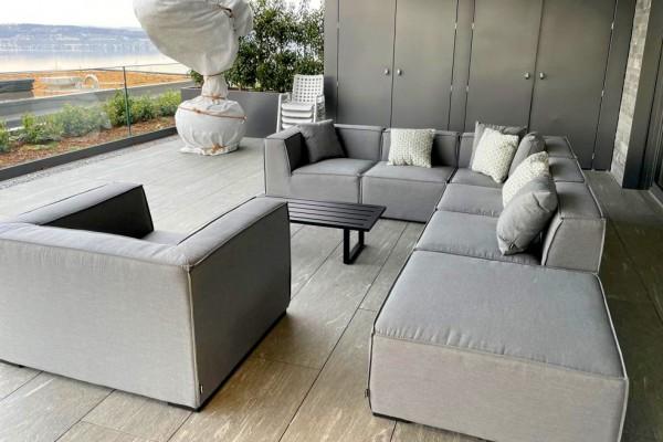 Agens Deluxe outdoor lounge in grey
