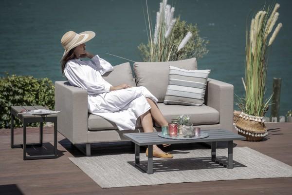 Lounge de jardin Andorra 2 places en brun sable