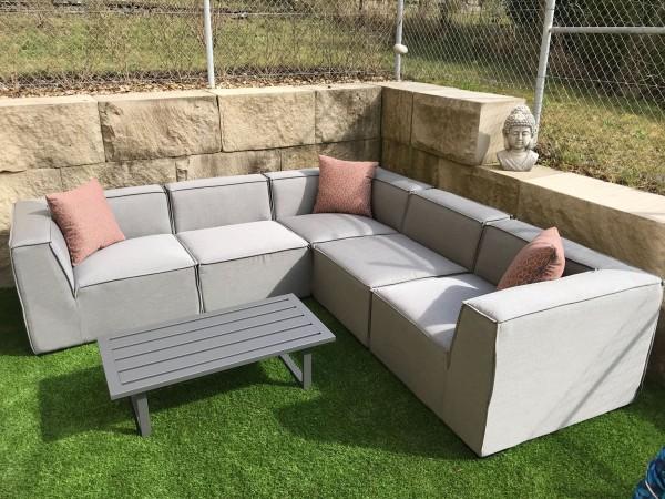 Selma garden lounge in grey