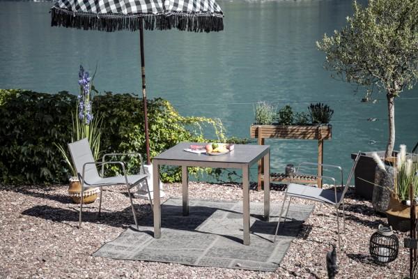 Jenna Tisch Set 90 – 2 Stühle Lalena in Grau